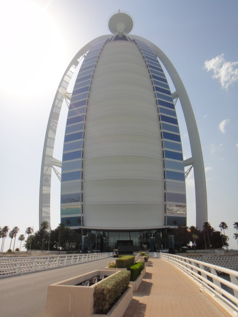 The front of the Burj Al Arab