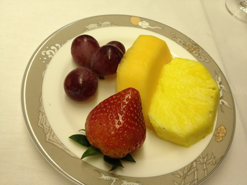 Fruit plate. I love pineapple!