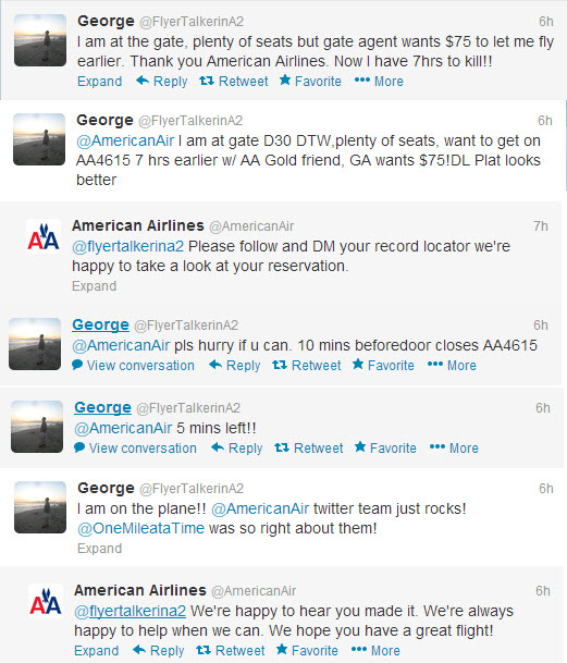 The American Airlines Twitter team saves the day for this traveler!