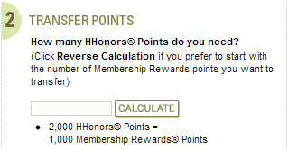 Amex currently has a transfer bonus to Hilton for a 1:2 ratio!
