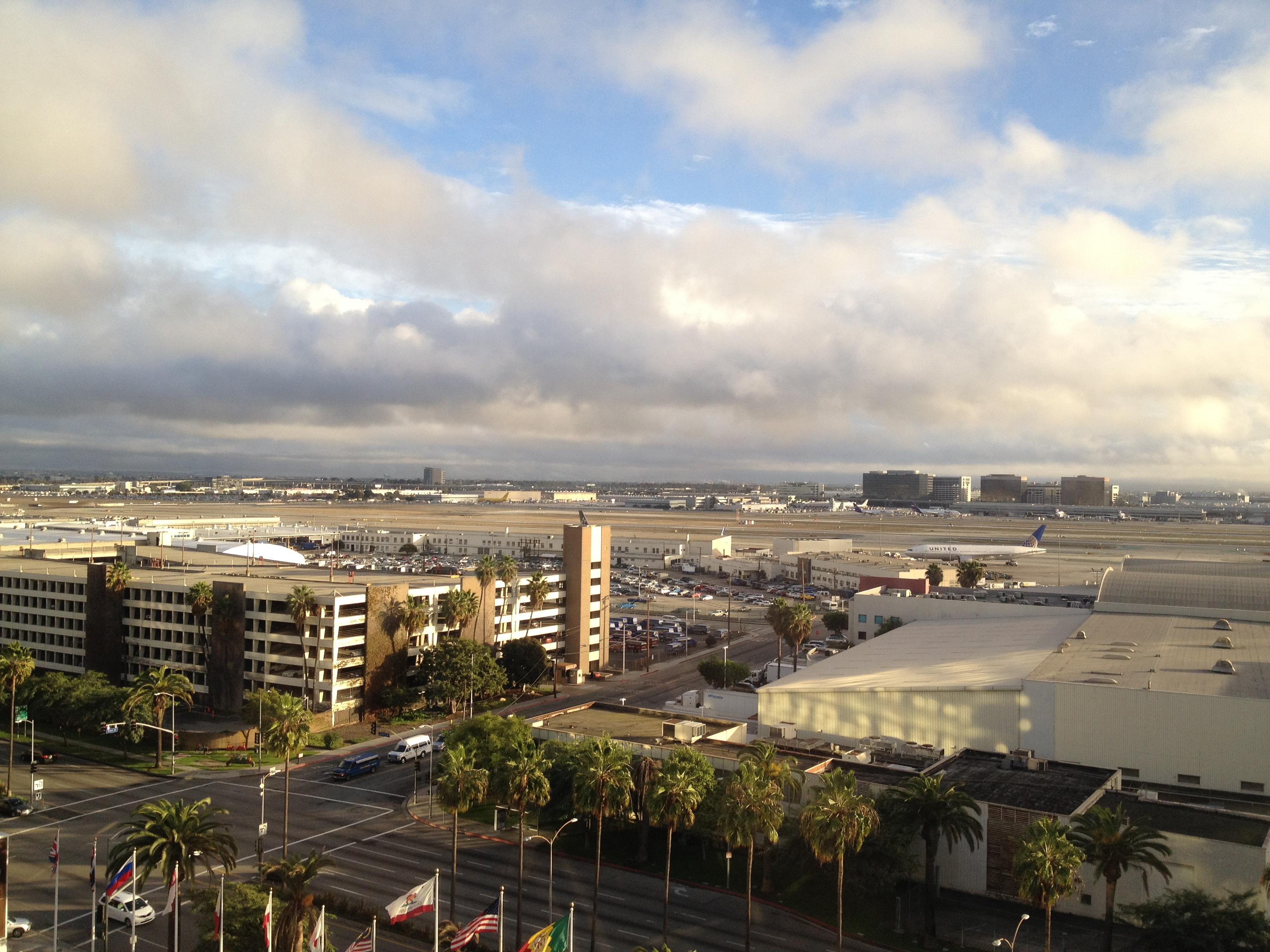 Gotta love that most rooms had a great view of the runway of one of the busiest airports in the world!