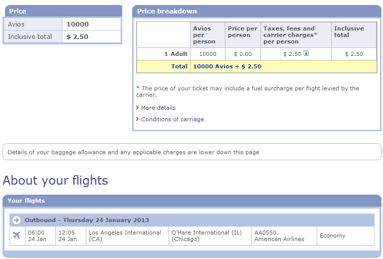 A one-way flight from Los Angeles to Chicago costs only 10k miles and $2.50. You save 2,500 miles each way vs booking with United, American, US Airways, or Delta. Good deal!