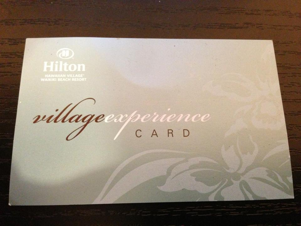 Village Experience Card.
