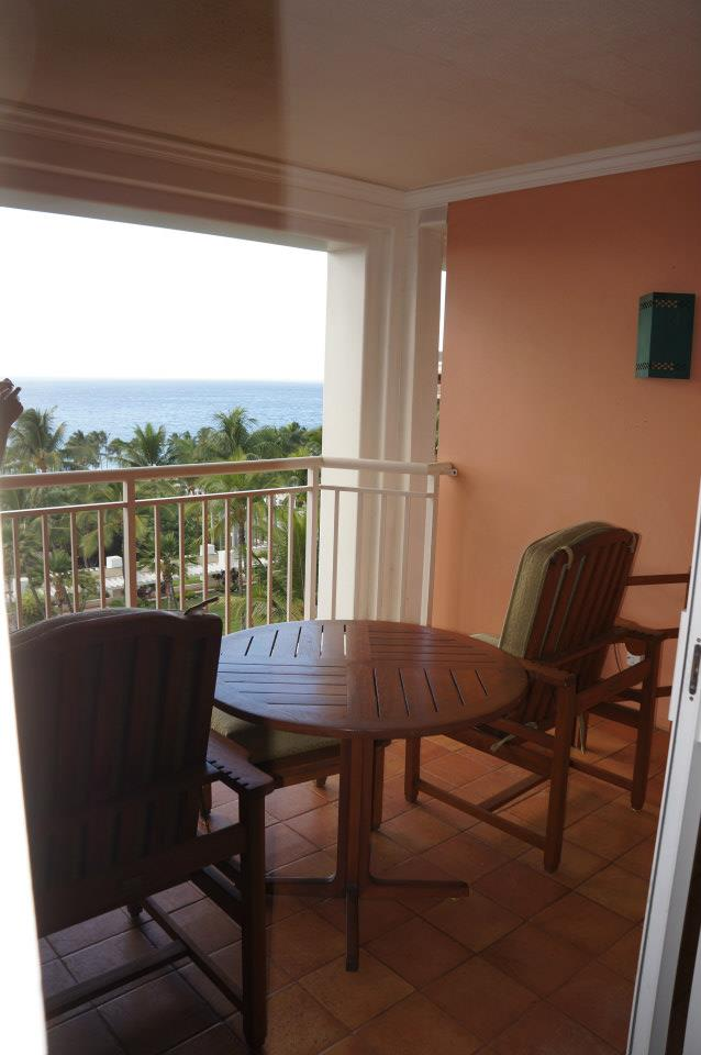 Lanai with unobstructed view of the ocean