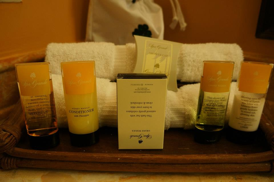 Toiletries from The Grand Spa