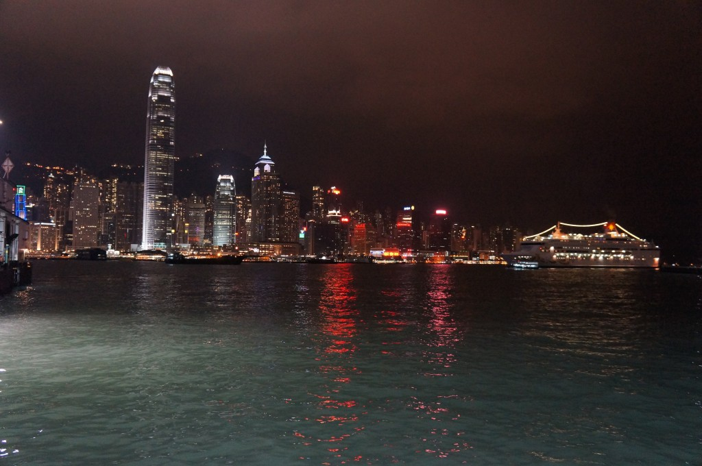 The view of downtown Hong Kong from the Star Ferry.