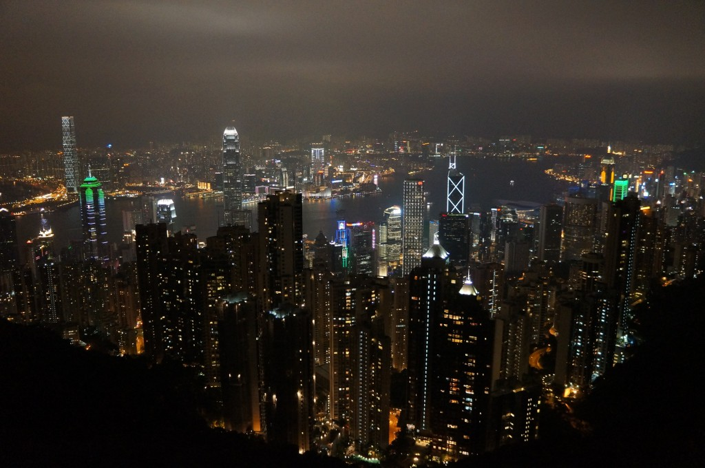 One of my better pictures from Victoria Peak at night.