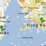 The route from Kowloon to Macau was relatively short.