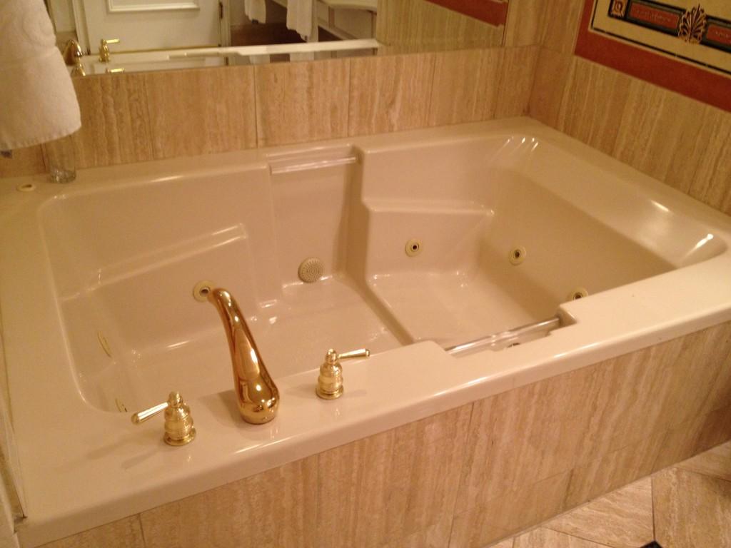 The bathroom had a really big tub, and it had jets!
