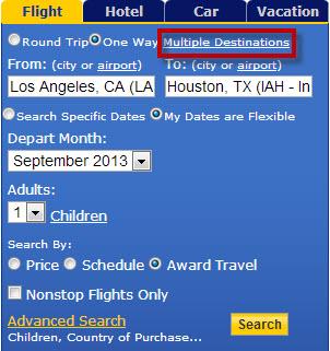 Multiple Destinations