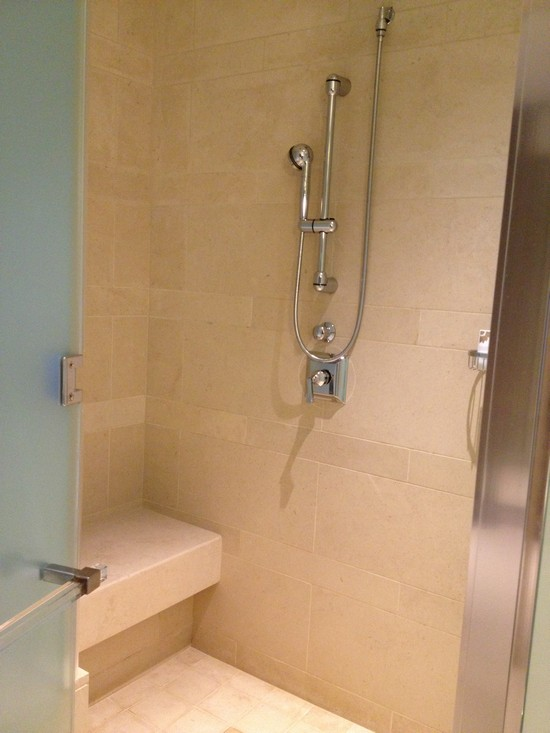 Shower with seating!