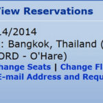 "Click ""View"" on your reservation."